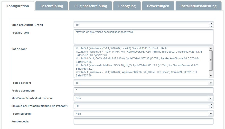 Plugin-Konfiguration