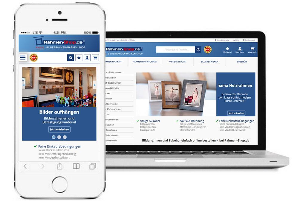 Rahmen-Shop | Shopware Referenzen | Ottscho IT - Ihr zuverlässiger ...